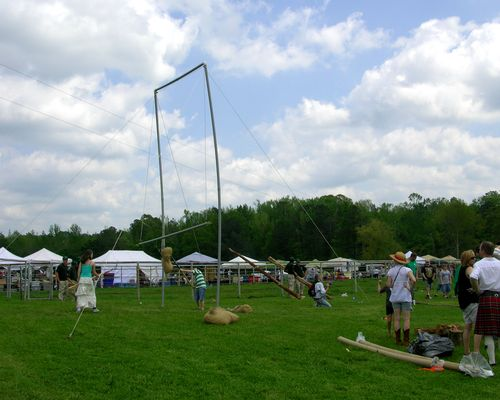 The Highland Games area